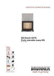 Stil-Kamin 62/76 Porte relevable (easy-lift) made in germany - Brunner