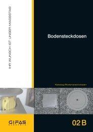 Hauptkatalog Bodensteckdosen - GIFAS-ELECTRIC GmbH