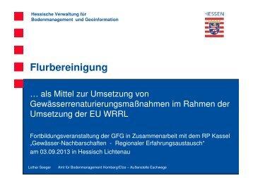 Vortrag 2 Flurbereinigung als Mittel zur Umsetzung von ... - GfG