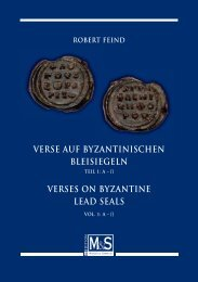 verses on byzantine lead seals - Gietl Verlag