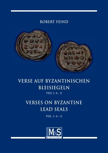verses on byzantine lead seals - Gietl Verlag