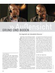 Grund und Boden – GIZ-Magazin akzente 02-2013