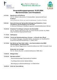Veranstaltungsprogramm 18.05.2004 ... - bei der GKB eV