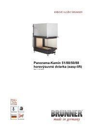 Panorama-Kamin 51/88/50/88 horevýsuvné dvierka (easy ... - Brunner