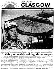Nothing record-breakin~ about August - Glasgow Montana