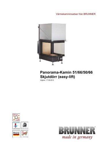 Panorama-Kamin 51/66/50/66 Skjutdörr (easy-lift) - Brunner