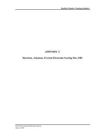 APPENDIX C Harrison, Arkansas, Everton Electronic Scoring Site ...