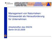 Management von Naturrisiken - Deutsches Global Compact Netzwerk