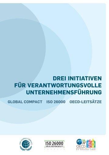 Drei Initiativen für verantwortungsvolle Unternehmensführung