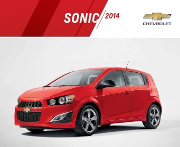 Download a Brochure Chevrolet Sonic Hatchback ... - GM Canada