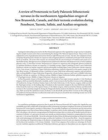 A review of Proterozoic to Early Paleozoic lithotectonic terranes in ...