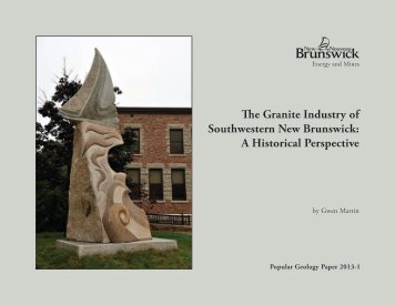 The Granite Industry of Southwestern New Brunswick: A Historical ...