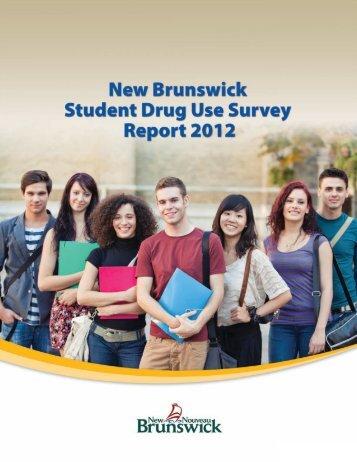 New Brunswick Student Drug Use Survey Report 2012 (PDF)