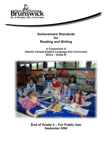 Reading and Writing Achievement Standards Curriculum