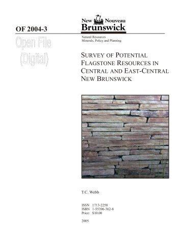 Potential Flagstone Resources - Gouvernement du Nouveau ...