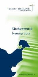 Kirchenmusik in Ostholstein im Sommer 2013 - Gnissau