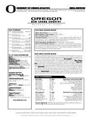 the 2003 Oregon XC Year-End Release (PDF) - GoDucks.com