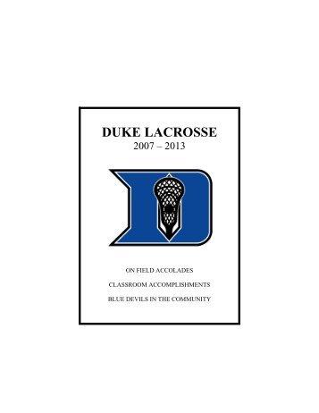 Duke Lacrosse Update - Duke University Athletics