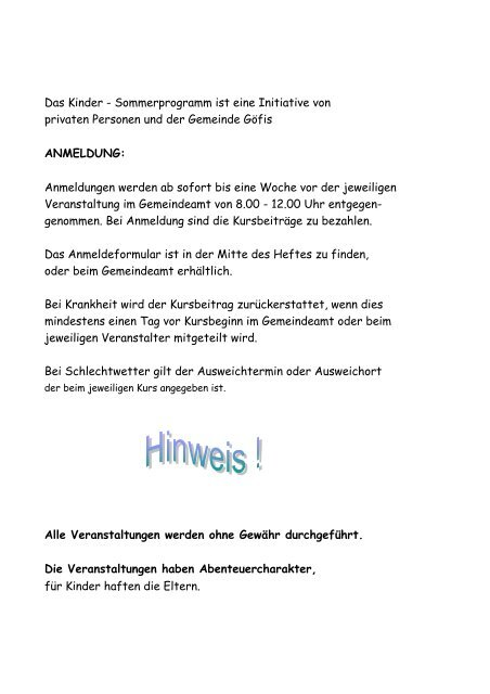 Veranstaltung:SENSEN - MH - KURS - Gemeinde Gfis