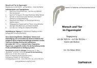 Mensch und Tier im Figurenspiel Goetheanum