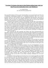 Von dem Vertrauen, das man zu dem Denken haben ... - Goetheanum