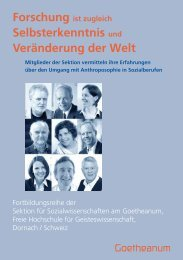Selbsterkenntnis und Veränderung der Welt - Goetheanum