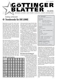 GÖTTINGER BLÄTTER - DKP Niedersachsen