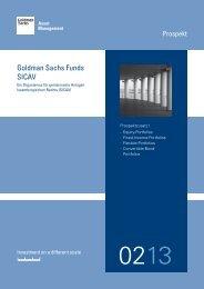 Goldman Sachs Funds SICAV