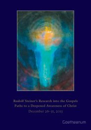 Rudolf Steiner's Research into the Gospels Paths to a ... - Goetheanum