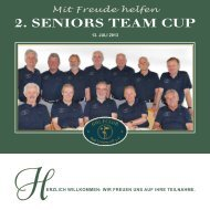2. SENIORS TEAM CUP - Golfclub Bad Liebenzell eV