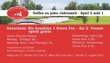 Spiel 2 zahl 1 - Golfclub Salzburg