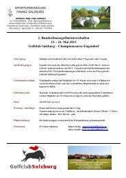 Info - Golfclub Salzburg