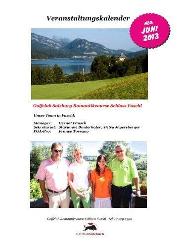 Veranstaltungskalender Juni 2013 - Golfclub Salzburg