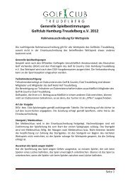 Generelle Spielbestimmungen Golfclub Hamburg-Treudelberg e.V. ...
