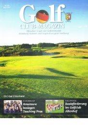 Golf Club-Magazin Mai 2012 Ausgabe 03 - Golf-Club Sylt