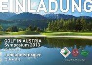 6. Golf in Austria-Symposiums