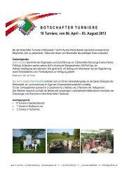 MA Botschafterturniere Anmeldeform. 2013 ... - Golf in Austria