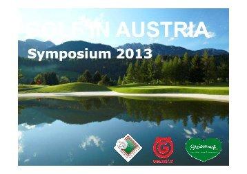 Sein Vortrag zum Download! - Golf in Austria