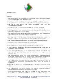 Qualitätskriterien I. Hotels 1. Der Mitgliedsbetrieb ... - Golf in Austria
