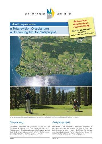 Totalrevision Ortsplanung Umzonung für ... - Golfplatz Meggen