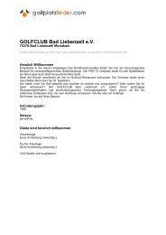 GOLFCLUB Bad Liebenzell e.V., 75378 Bad Liebenzell Monakam