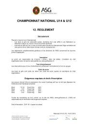 CHAMPIONNAT NATIONAL U14 & U12 - Association Suisse de Golf