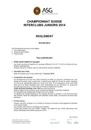 championnat suisse interclubs juniors 2013 reglement - Association ...