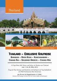 THAILAND – EXKLUSIVE GOLFREISE - GolfXtra