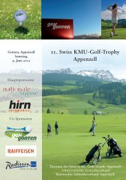 11. Swiss KMU-Golf-Trophy Appenzell