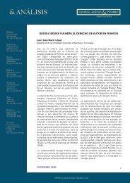 GOOGLE BOOKS VULNERA EL DERECHO DE AUTOR EN FRANCIA