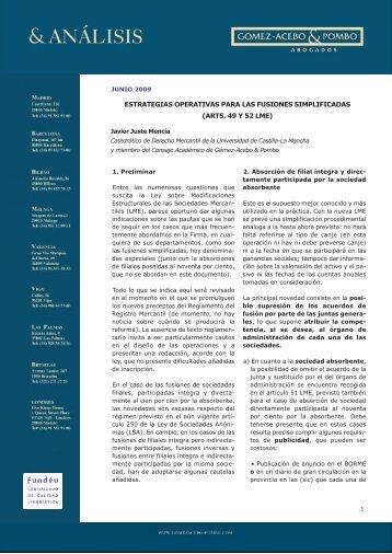 Estrategias operativas para las fusiones simplificadas