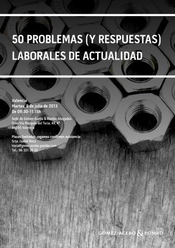50 ProbleMas (y resPuestas) laborales De actualiDaD