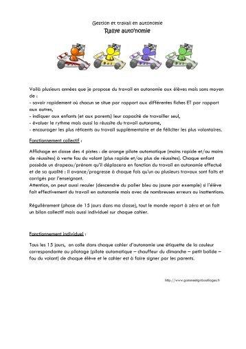 Rallye auto'nomie - Gomme & Gribouillages