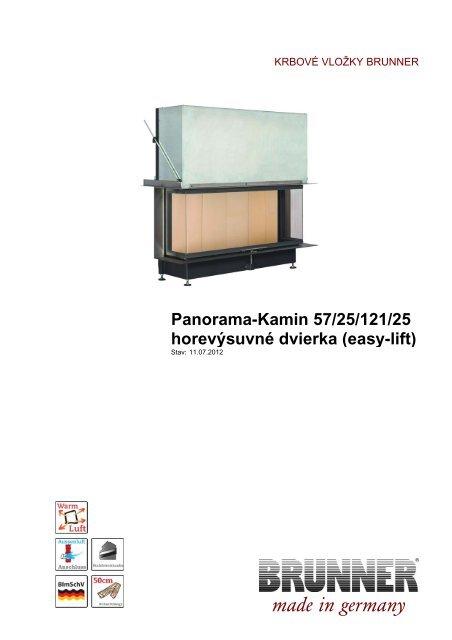 Panorama-Kamin 57/25/121/25 horevýsuvné dvierka ... - Brunner
